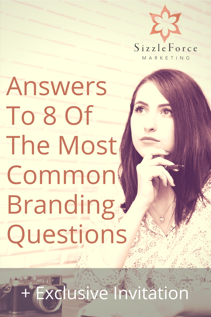 Answers to 8 of the most common branding questions // frequently asked marketing questions //
