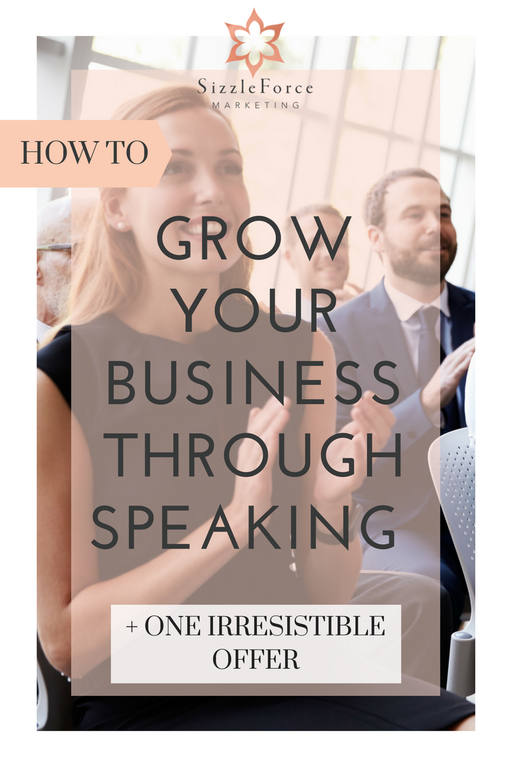 How Grow Your Business Through Speaking // become a great speaker //