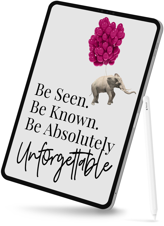 absolutely unforgettable marketing book on tablet