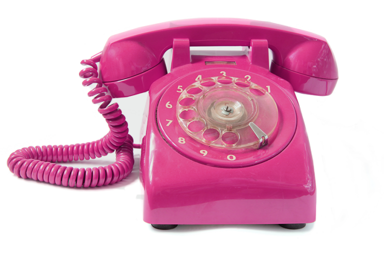 marketing pink phone