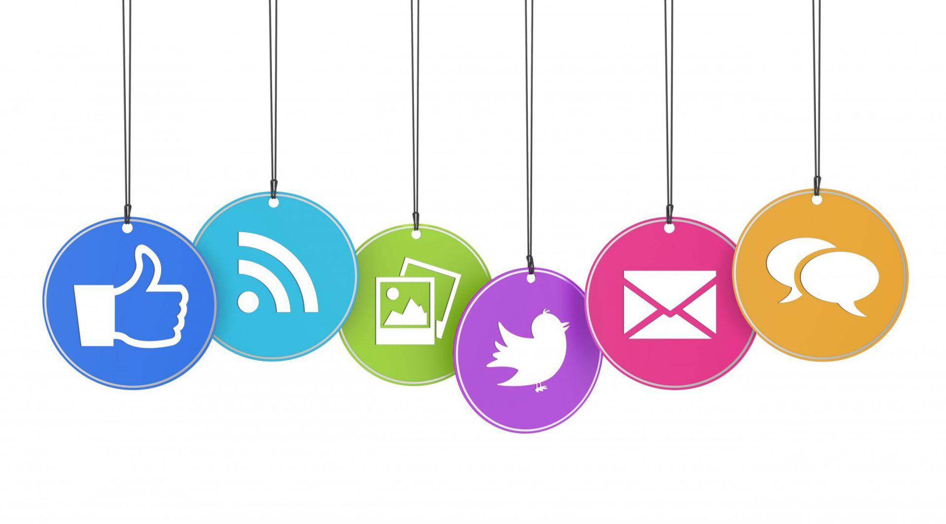 social media marketing icons