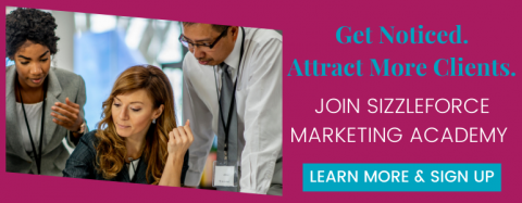 A graphic for how to generate new leads and join SizzleForce Marketing Academy