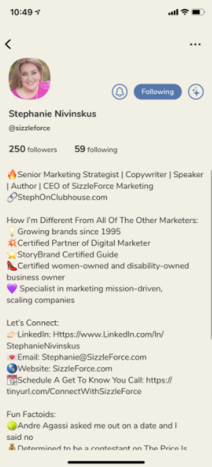 Elevate the Clubhouse experience for your followers with an optimized, personable bio.
