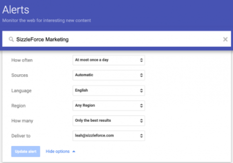 Use Google Alerts to monitor your brand perception for free.